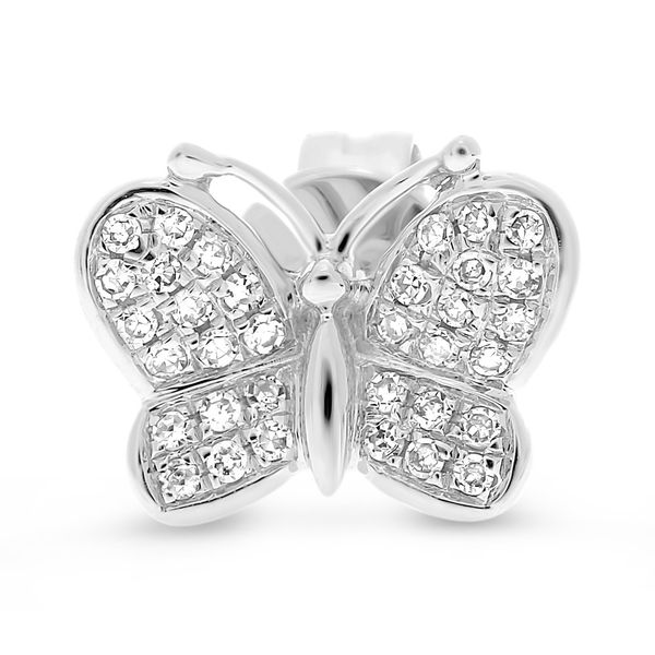 Butterfly Stud Earrings Image 2 Mystique Jewelers Alexandria, VA