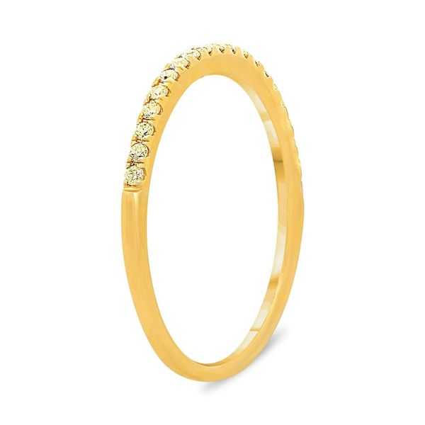 Half Pave Yellow Diamond Band  Image 2 Mystique Jewelers Alexandria, VA