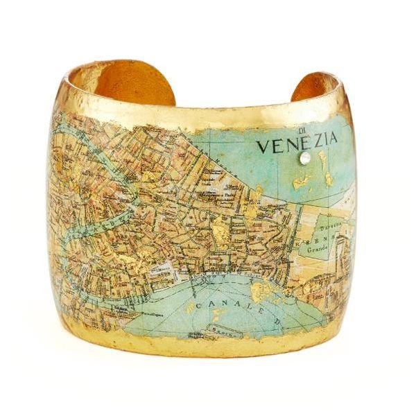 VENICE, ITALY MAP CUFF Mystique Jewelers Alexandria, VA