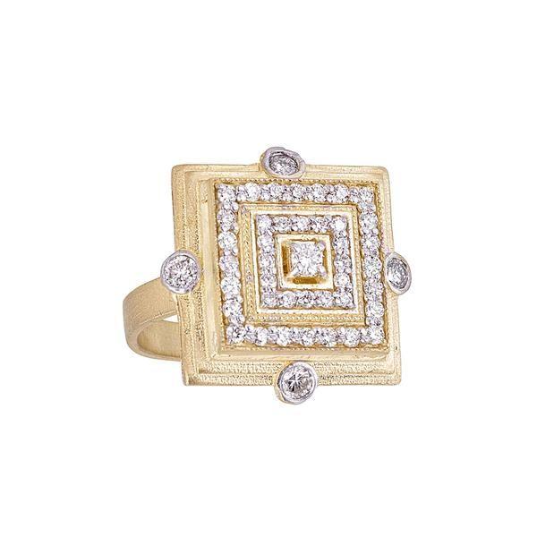 DIAMOND SQUARE DECO RING Mystique Jewelers Alexandria, VA
