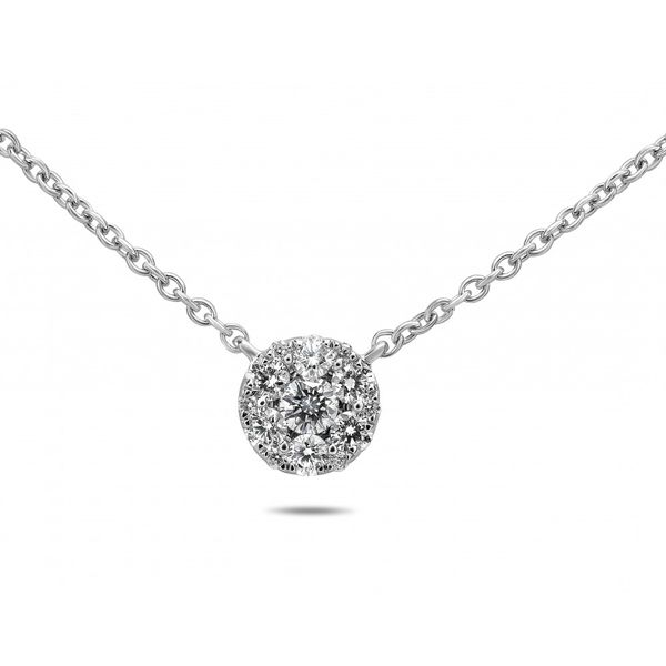 Diamond Cluster Pendant Necklace Mystique Jewelers Alexandria, VA