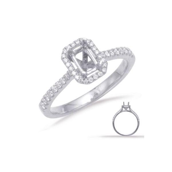Emerald Cut Halo Engagement Ring Mystique Jewelers Alexandria, VA
