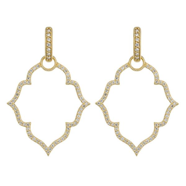 Michelle Flower Pave Earring Charm Frame Mystique Jewelers Alexandria, VA