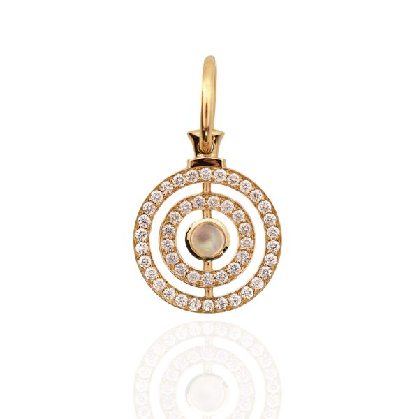 Halo Pendant in Yellow Gold Mystique Jewelers Alexandria, VA