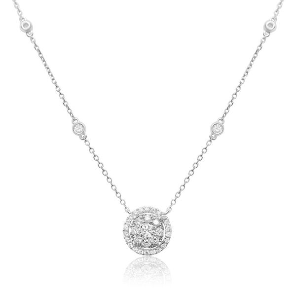 Diamond Cluster Halo Necklace Mystique Jewelers Alexandria, VA