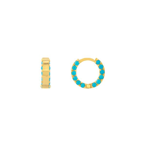 Turquoise hoops Mystique Jewelers Alexandria, VA