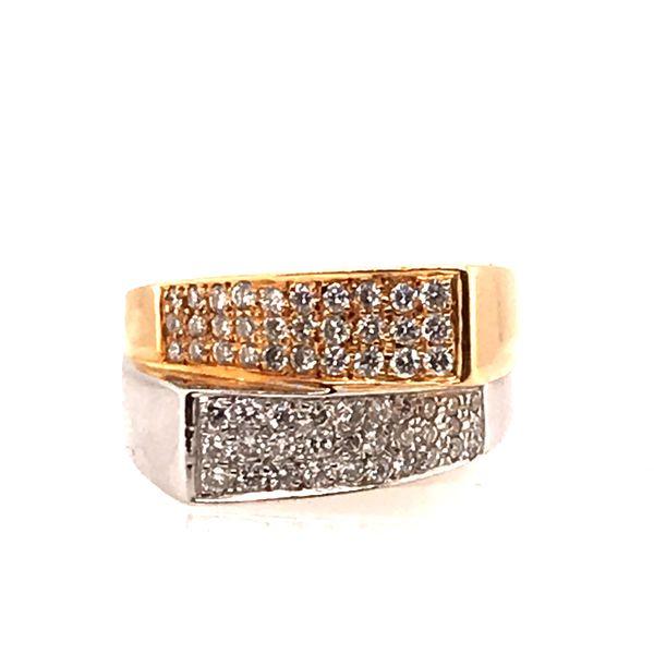 Mixed Gold Diamond Ring Mystique Jewelers Alexandria, VA