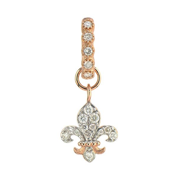 Jude Frances Pave Diamond Fleur De Lis Charm Mystique Jewelers Alexandria, VA