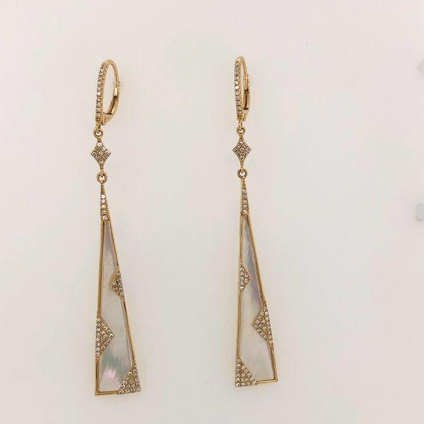 Moonstone Diamond Earrings Image 2 Mystique Jewelers Alexandria, VA