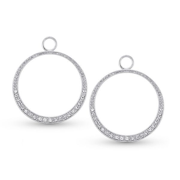 Diamond Circle Charm earrings Mystique Jewelers Alexandria, VA