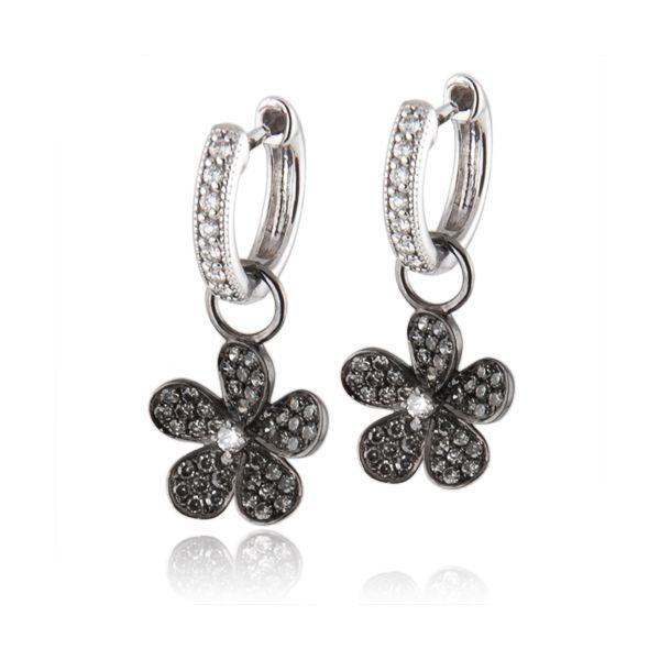 Diamond Hoops and Flower Charms Mystique Jewelers Alexandria, VA