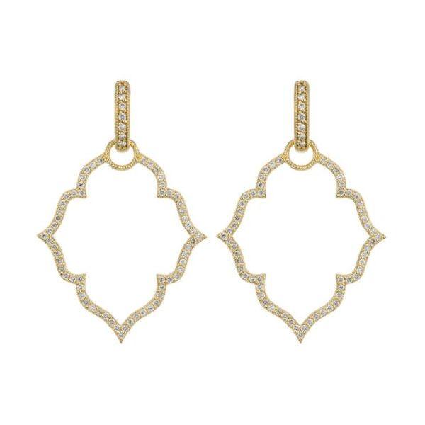 Michelle Flower Pave Earring Charm Mystique Jewelers Alexandria, VA