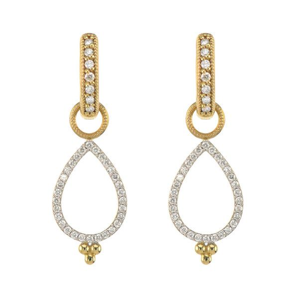 Provence Delicate Open Pear Pave Earring Charms Mystique Jewelers Alexandria, VA