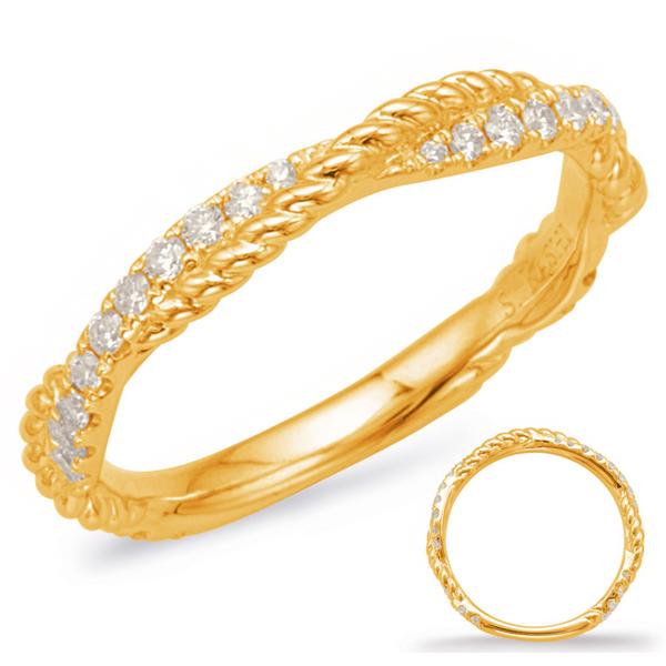 Yellow Gold Braided Diamond Band Mystique Jewelers Alexandria, VA