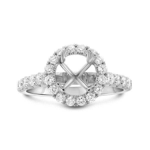Round Diamond Halo Engagement Stting Mystique Jewelers Alexandria, VA
