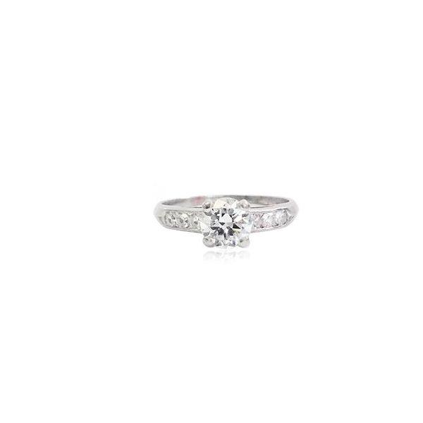 Vintage European Cut  Diamond Platinum  Mystique Jewelers Alexandria, VA