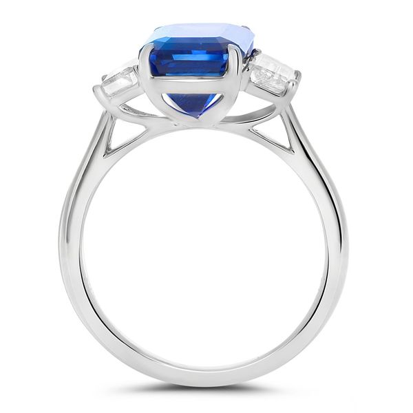 Platinum Sapphire & Diamond Statement Ring Image 3 Mystique Jewelers Alexandria, VA