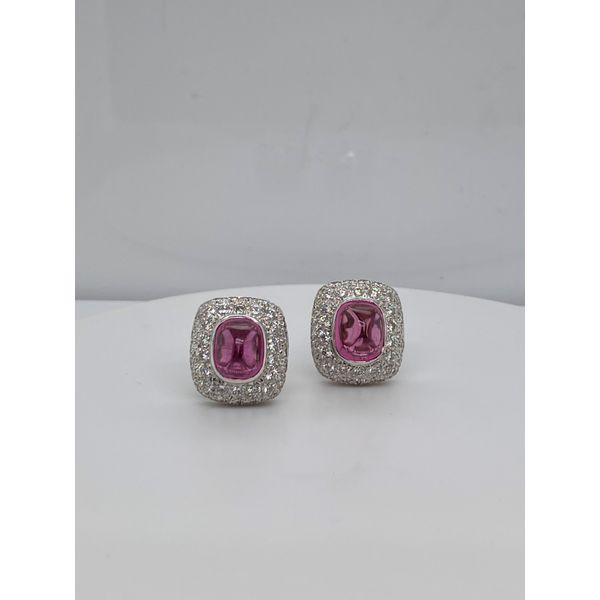 Pink Tourmaline and Diamond Earrings Mystique Jewelers Alexandria, VA