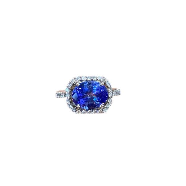 Estate Diamond and Tanzanite Ring Mystique Jewelers Alexandria, VA
