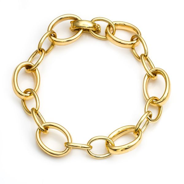 "14kt yg Oval Link Brac 7.5"" Mystique Jewelers Alexandria, VA"