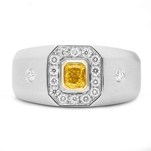 Men's Yellow Diamond Engagement Ring Mystique Jewelers Alexandria, VA