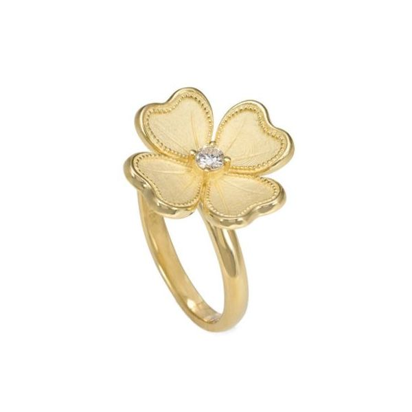 Gold Diamond Flower Ring Mystique Jewelers Alexandria, VA