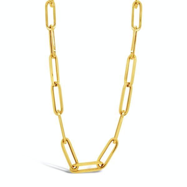 "14kt yg 17.5"" Paperclip Chain Mystique Jewelers Alexandria, VA"