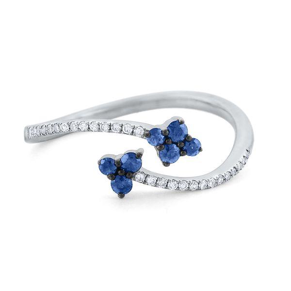 Sapphire Diamond Bypass Ring  Mystique Jewelers Alexandria, VA