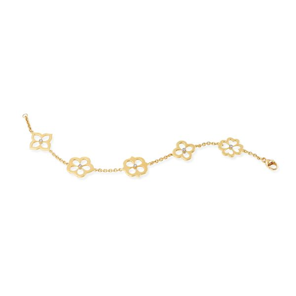 18K YELLOW GOLD DIAMOND  BRACELET Mystique Jewelers Alexandria, VA