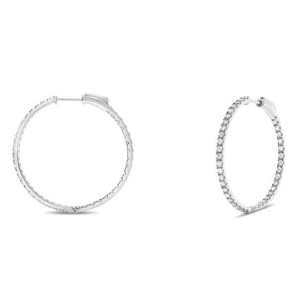 Diamond Hoop Earrings Mystique Jewelers Alexandria, VA