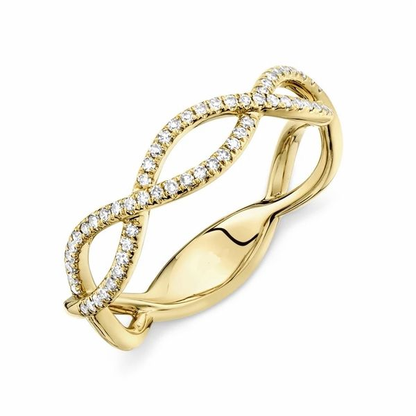 14KT Gold Eternity Twist Stackable Band Image 2 Padis Jewelry San Francisco, CA