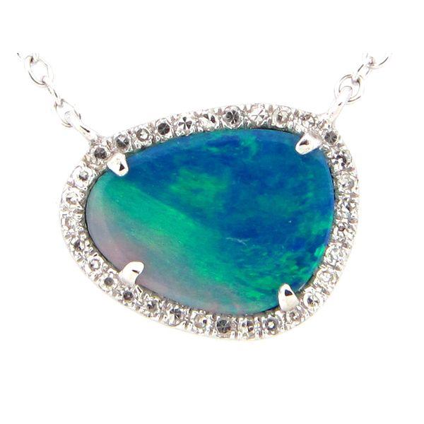 14KT White Gold Gemstone Necklace Parris Jewelers Hattiesburg, MS
