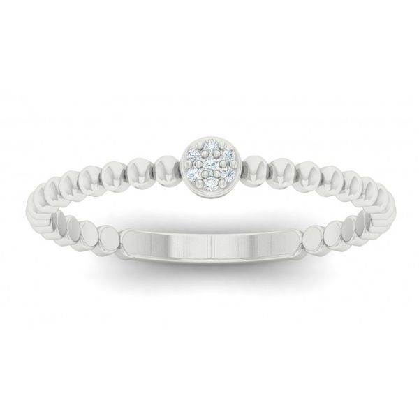 10 kt White Gold Simple Stackable Band