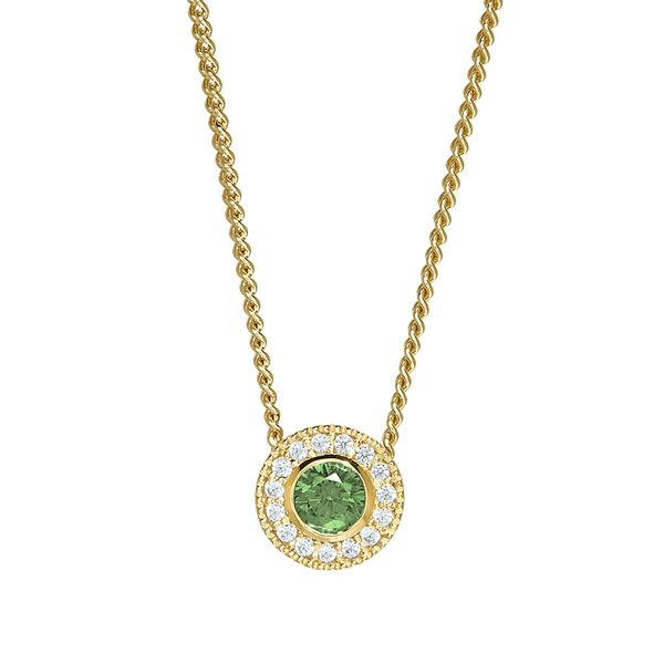 Gold Vermeil August Birthstone Necklace Parris Jewelers Hattiesburg, MS