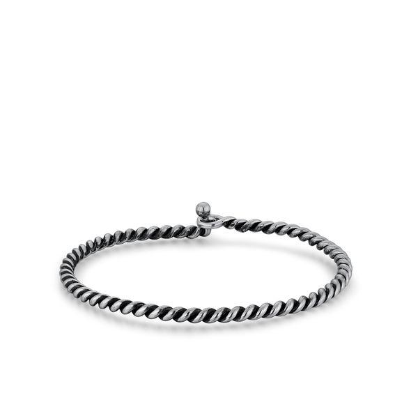 Men's Sterling Silver Rope Cuff Bracelet Parris Jewelers Hattiesburg, MS