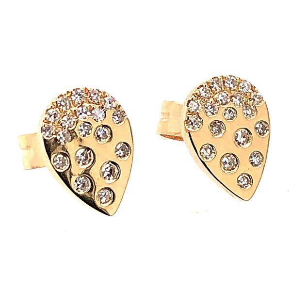 14 kt Yellow Gold Fashion Diamond Stud Earrings