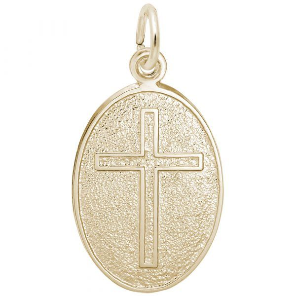 Yellow gold plated cross charm