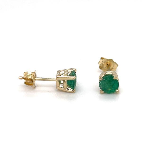 14 kt Yellow Gold Emerald Stud Earrings