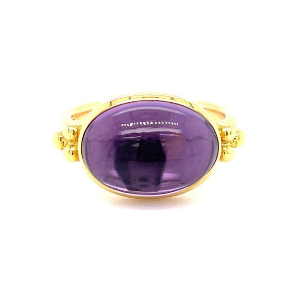 14 kt Yellow Gold Purple Amethyst Ring