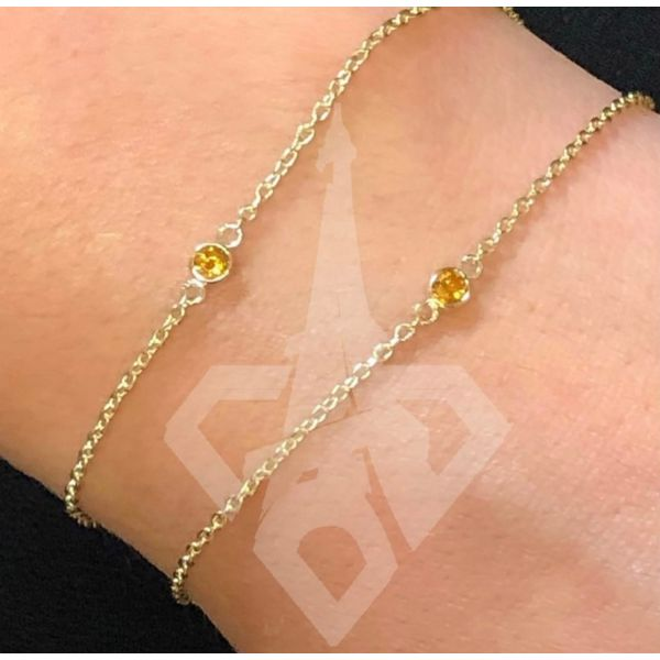 14 kt Yellow Gold Customizable Gemstone Bracelet