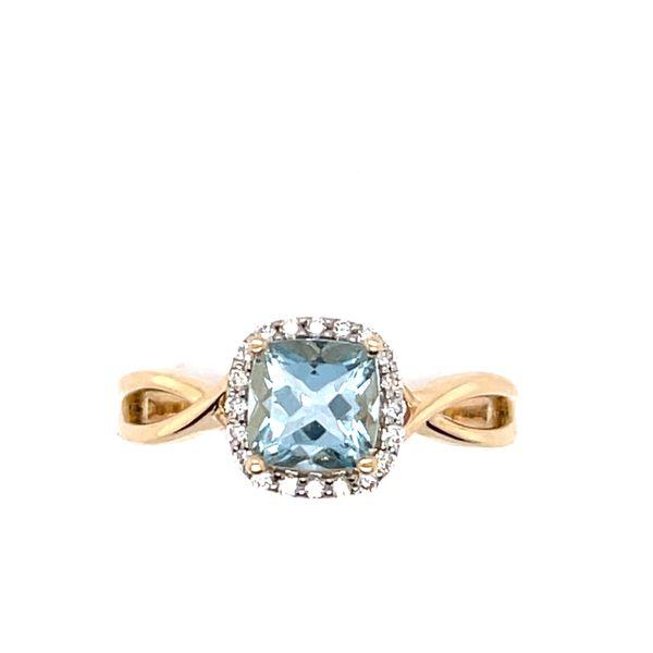 14 kt Yellow Gold Aquamarine Ring