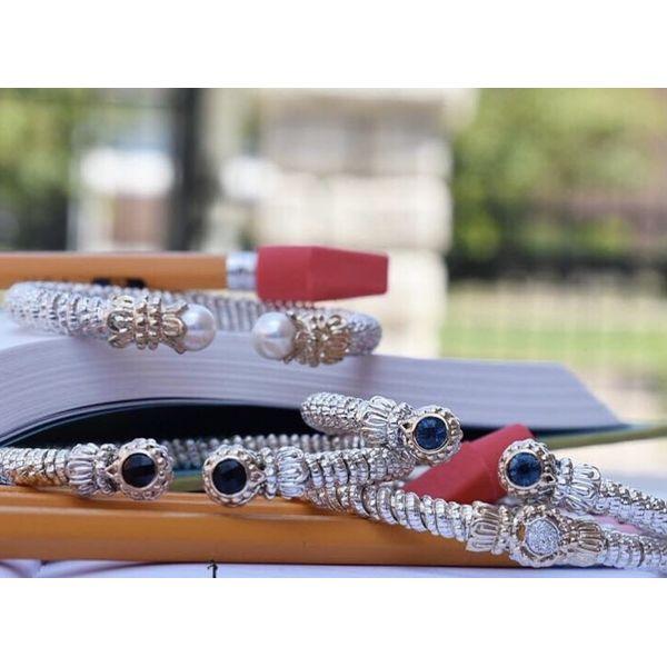 Sterling Silver and 14k Gold Bracelet- London Blue Topaz Image 2 Parris Jewelers Hattiesburg, MS
