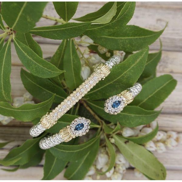 Sterling Silver and 14k Gold - London Blue Topaz Bracelet  Image 2 Parris Jewelers Hattiesburg, MS
