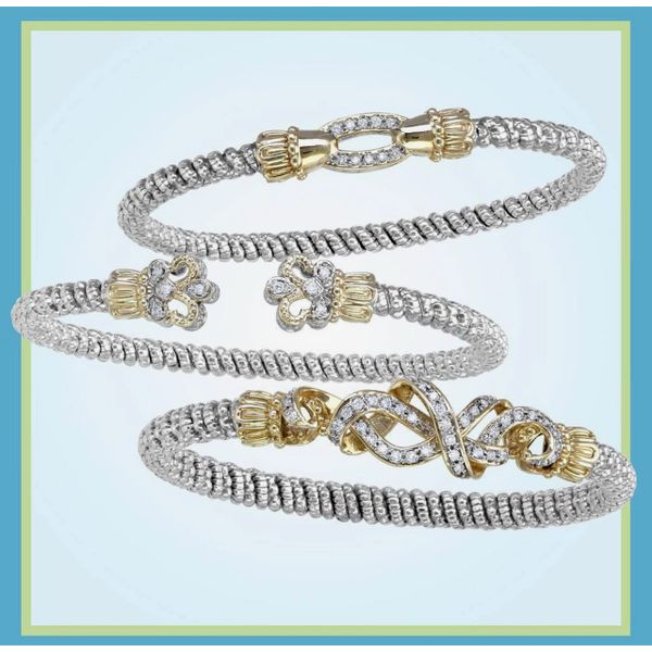 Sterling Silver and 14k Gold with Diamonds Image 2 Parris Jewelers Hattiesburg, MS