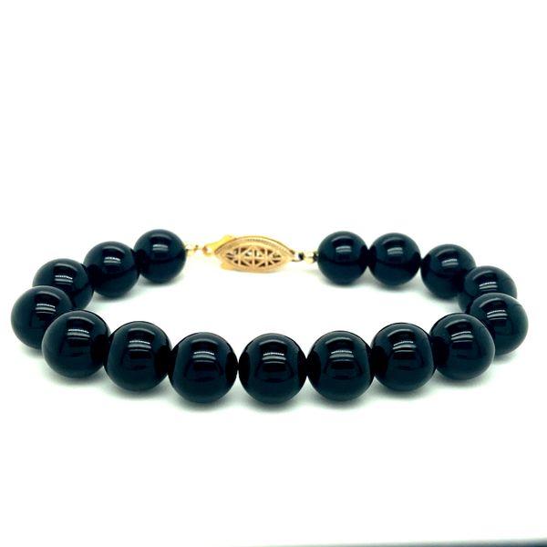 14 kt Yellow Gold Black Onyx Bracelet