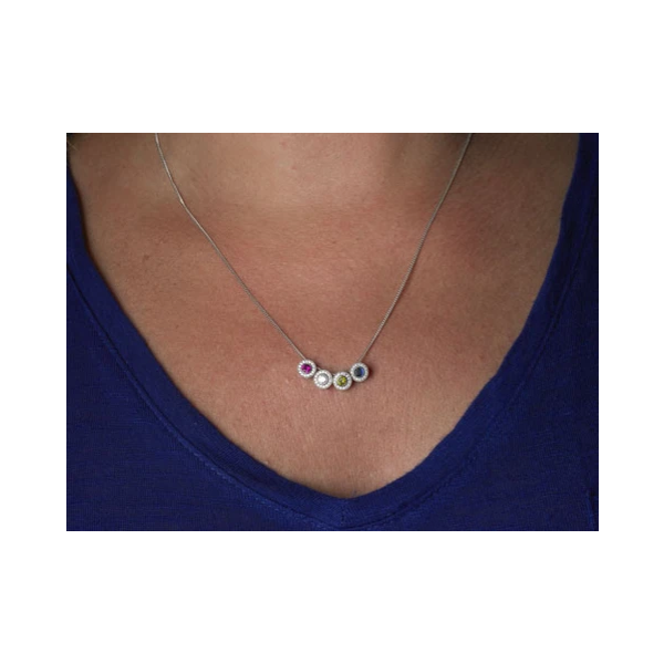 Sterling Silver April Birthstone Necklace Image 2 Parris Jewelers Hattiesburg, MS