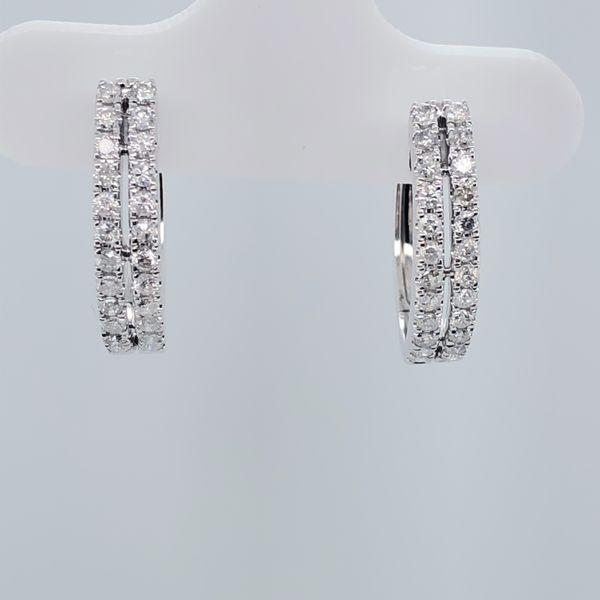 Small Diamond Hoop Earrings
