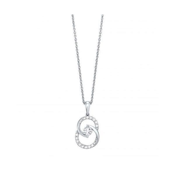 10 kt White Gold Diamond Necklace