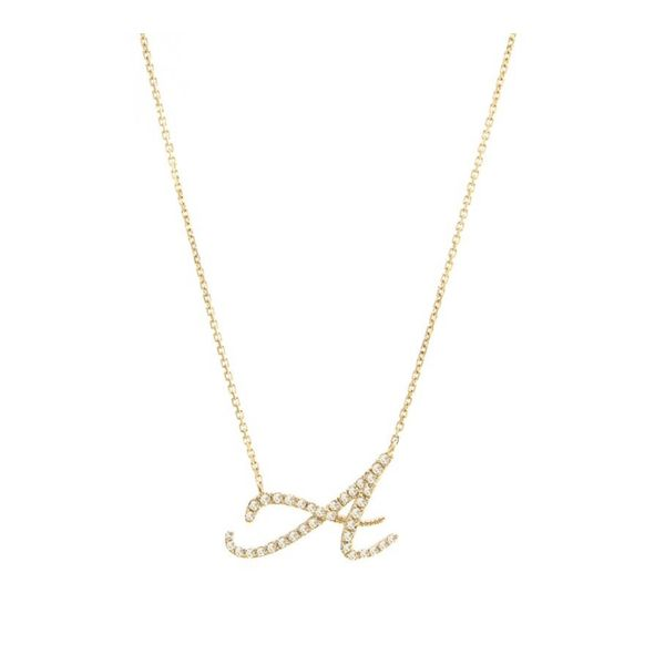14 kt Yellow Gold Initial Necklace