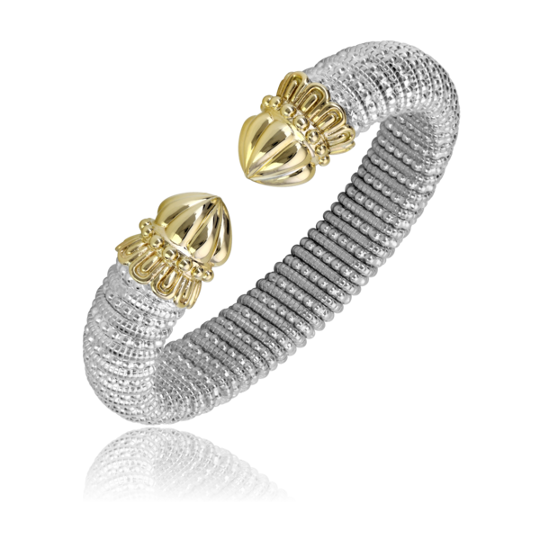Sterling Silver and 14 kt yellow gold 12 mm bracelet by Vahan